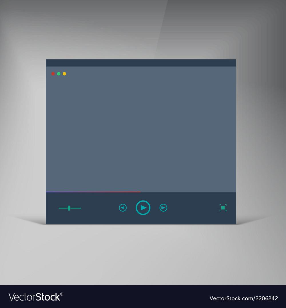 Player flat ui brochure window vector   Price: 1 Credit (USD $1)