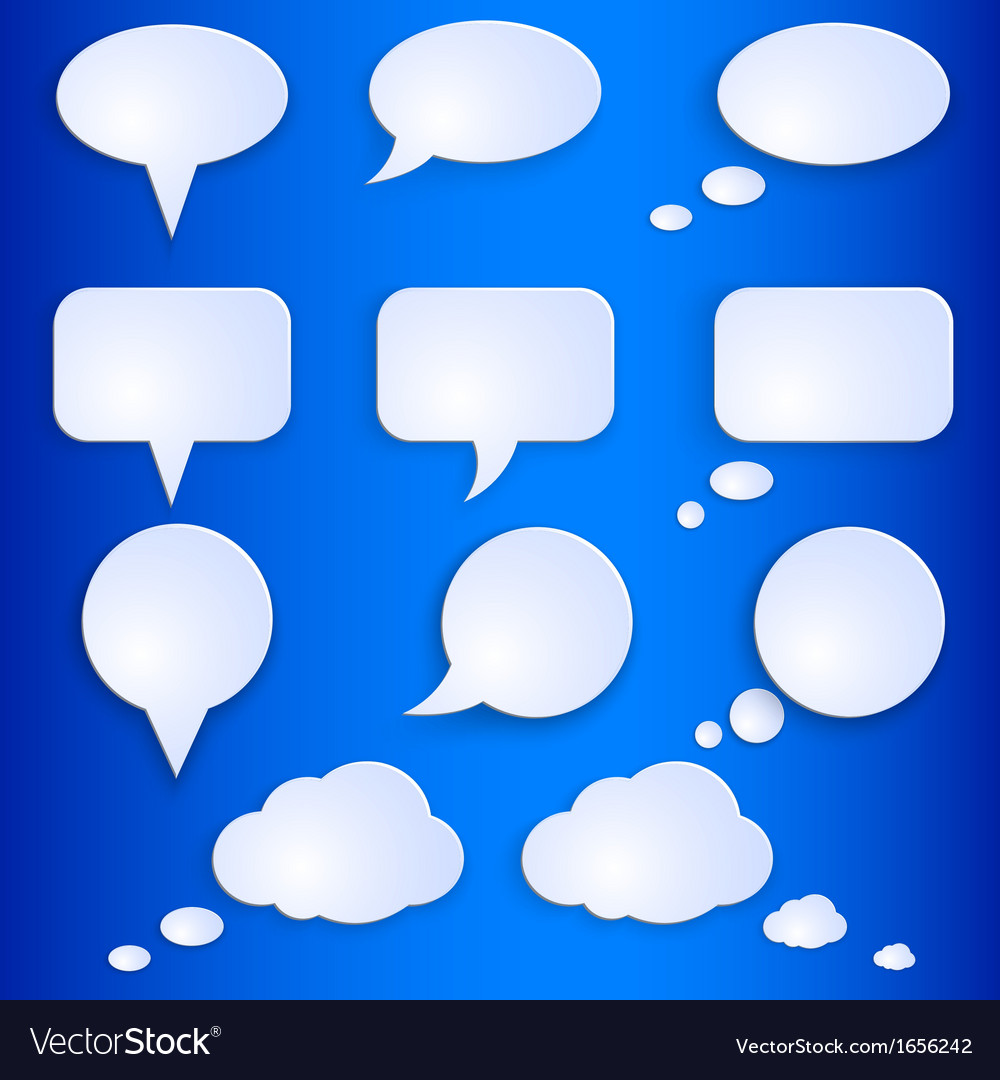 Set of empty speech bubbles vector | Price: 1 Credit (USD $1)