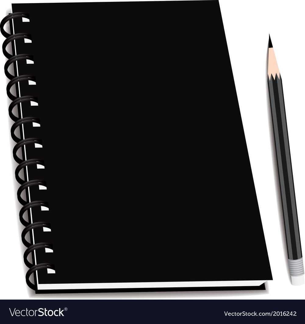 Stack of ring binder book or notebook isolated vector | Price: 1 Credit (USD $1)