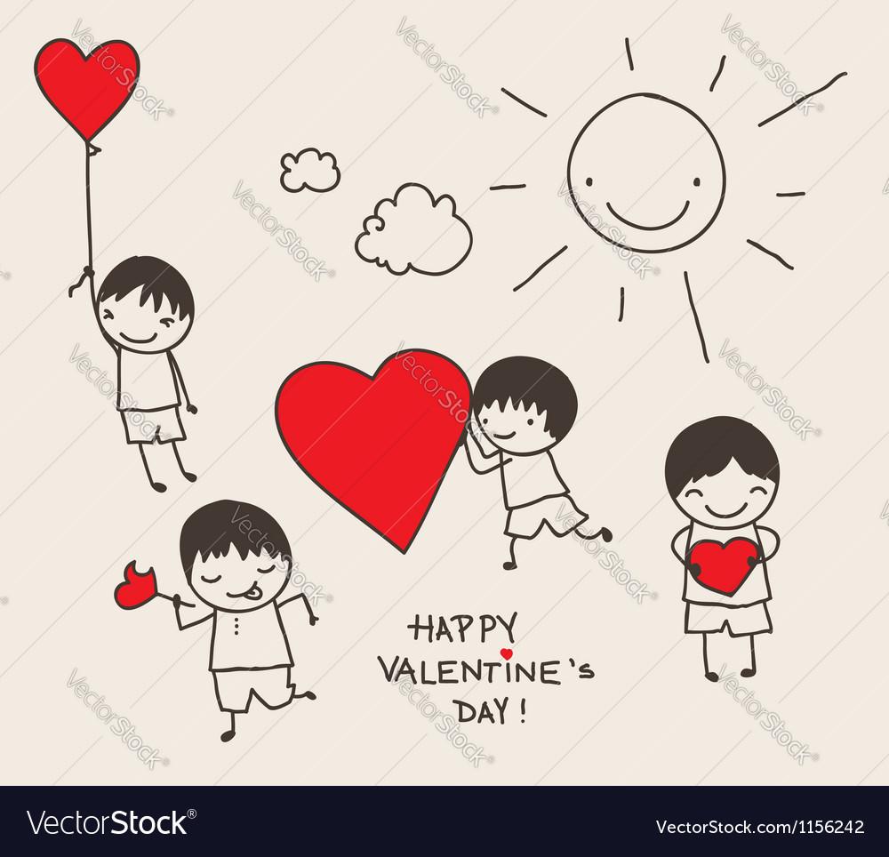 Valentines day doodle vector   Price: 1 Credit (USD $1)