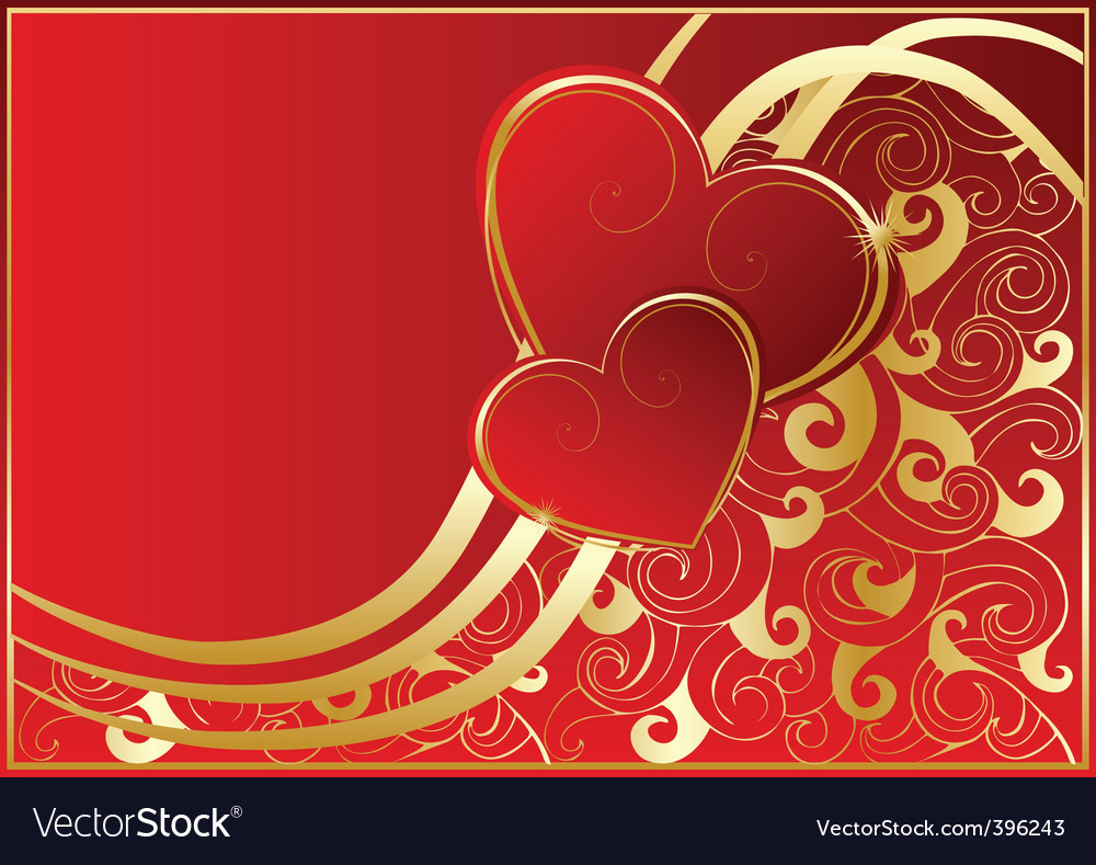 Abstract red card with hearts vector | Price: 1 Credit (USD $1)