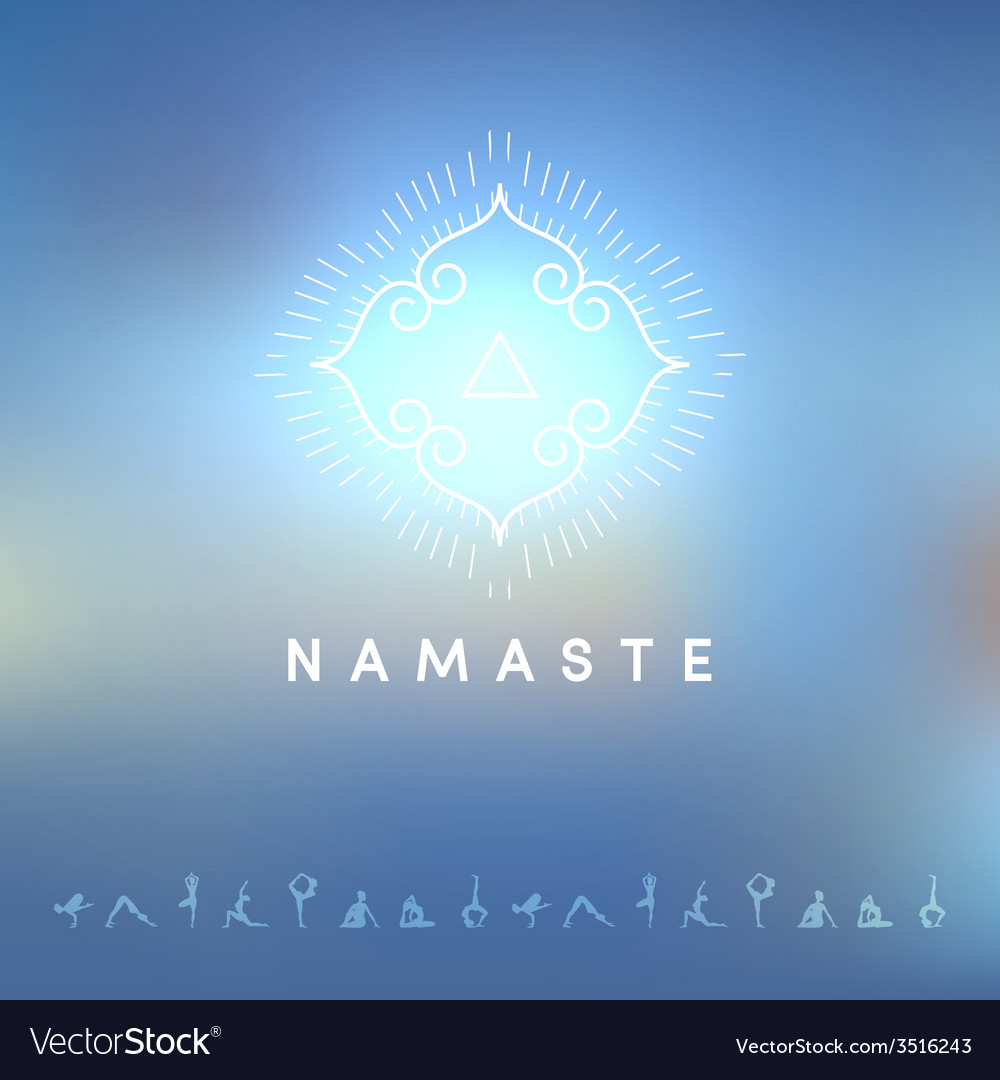 Blured background with yoga logo vector   Price: 1 Credit (USD $1)