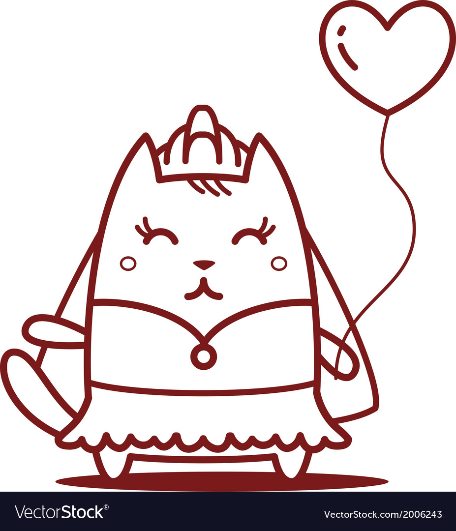 Cartoon cat character vector   Price: 1 Credit (USD $1)