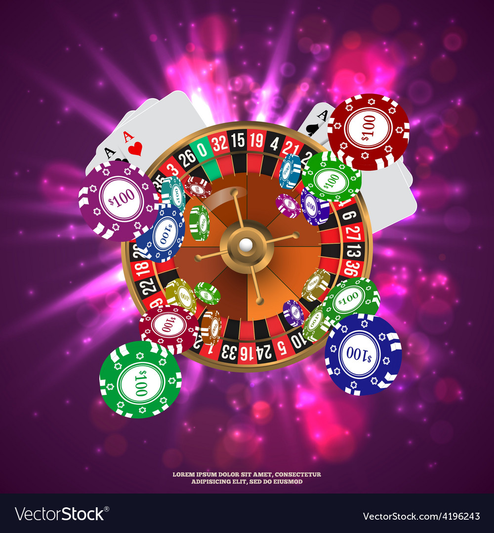 Casino roulette playing cards wtf falling chips vector | Price: 1 Credit (USD $1)