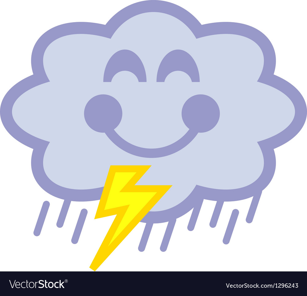 Cloud with lightning vector | Price: 1 Credit (USD $1)