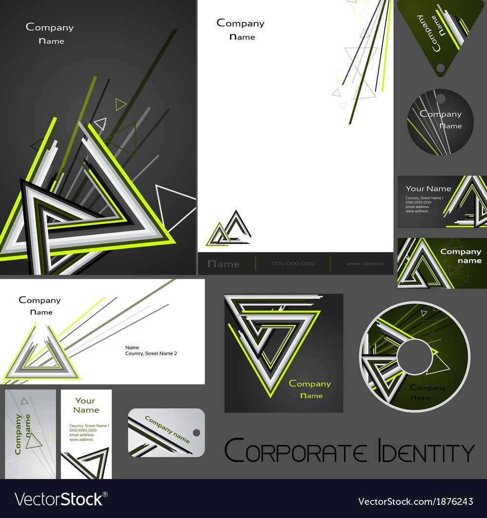 Corporate identity template no 17 2 vector | Price: 1 Credit (USD $1)
