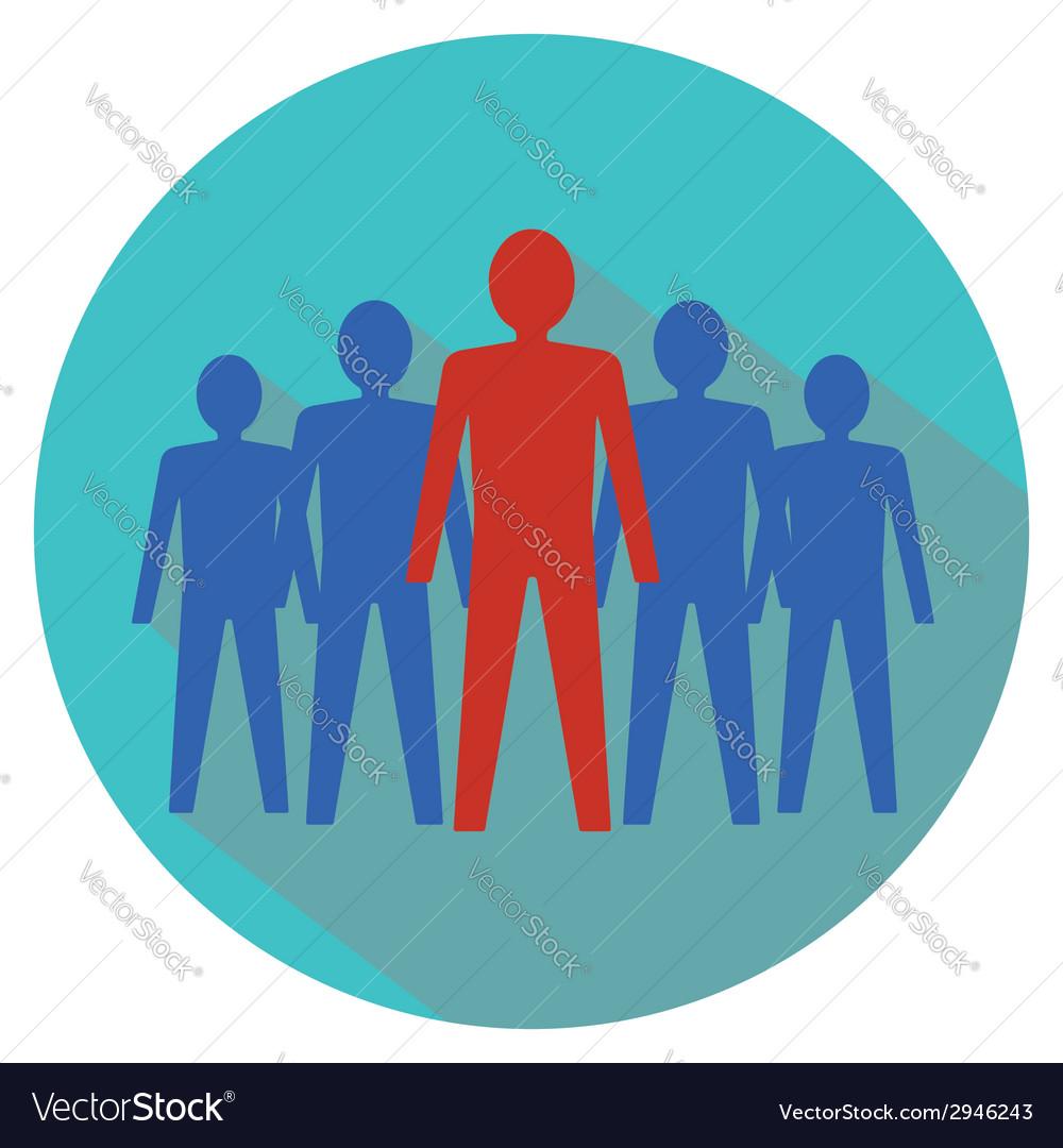 Leadership concept teamwork vector | Price: 1 Credit (USD $1)