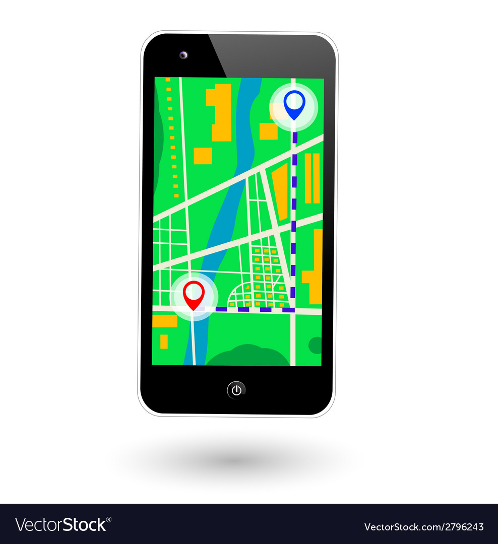 Mobile navigator vector | Price: 1 Credit (USD $1)