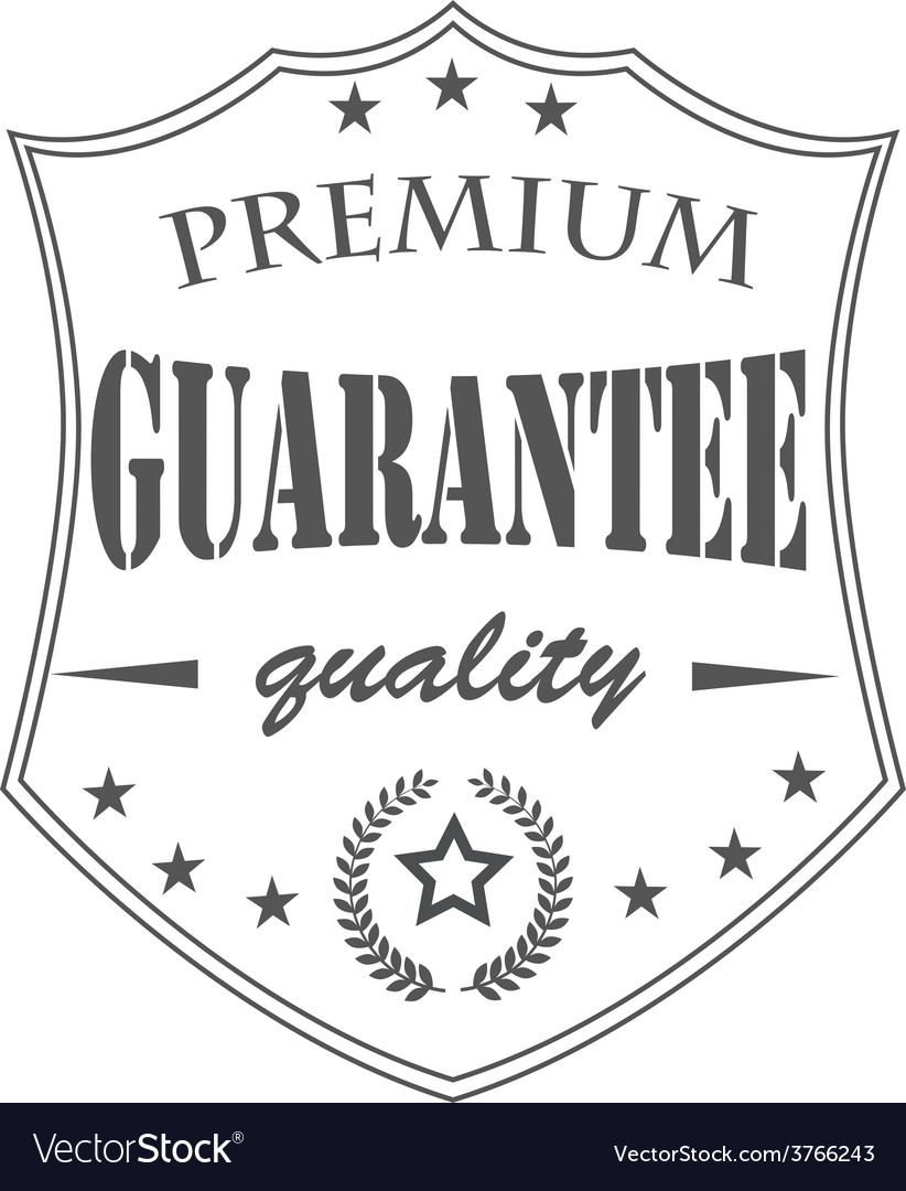 Premium garantee vector | Price: 1 Credit (USD $1)