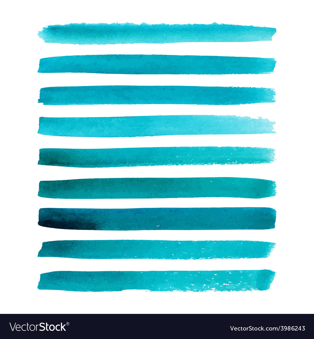 Set of watercolor stripes vector | Price: 1 Credit (USD $1)