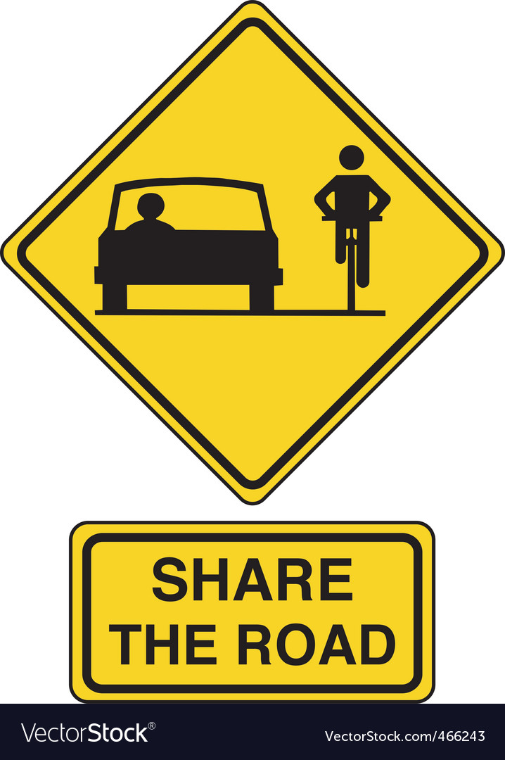 Share the road vector | Price: 1 Credit (USD $1)