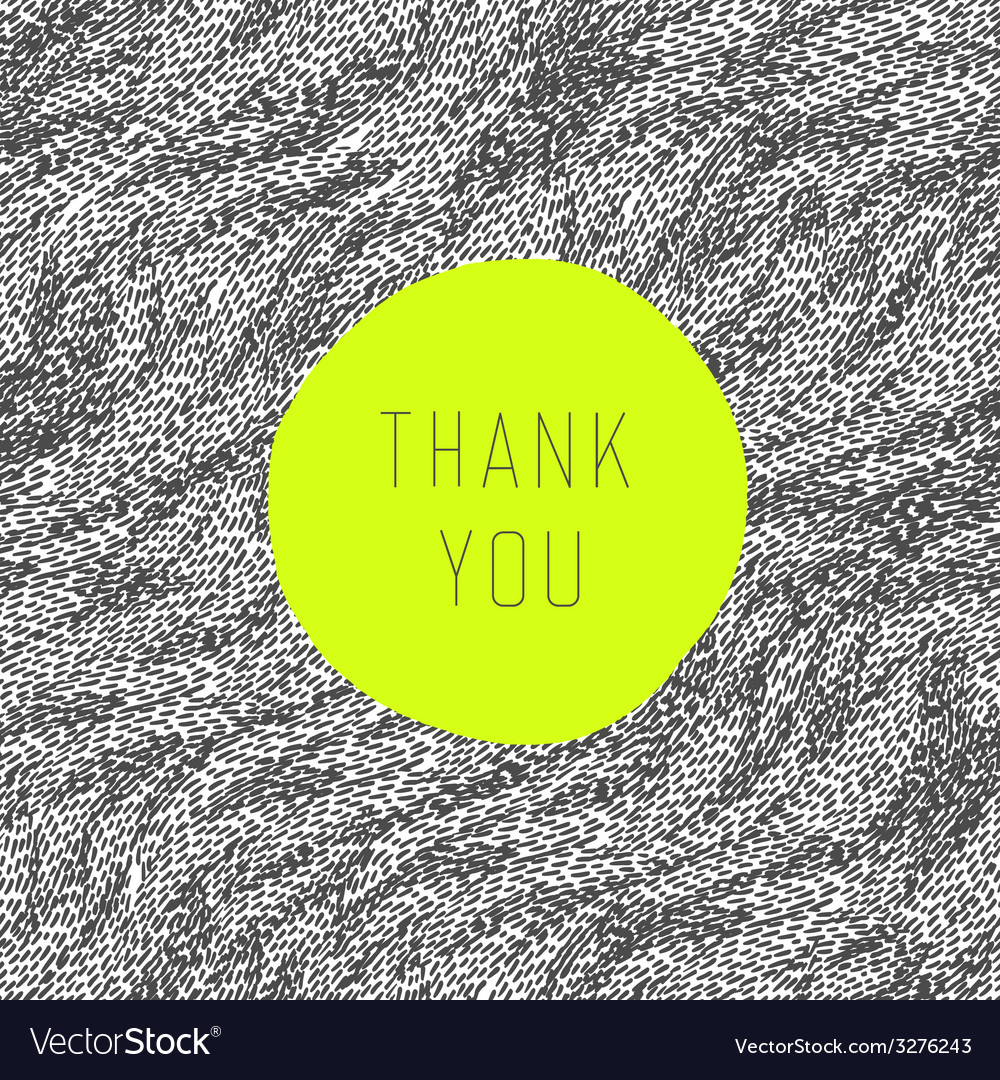 Thank you card green label vector | Price: 1 Credit (USD $1)