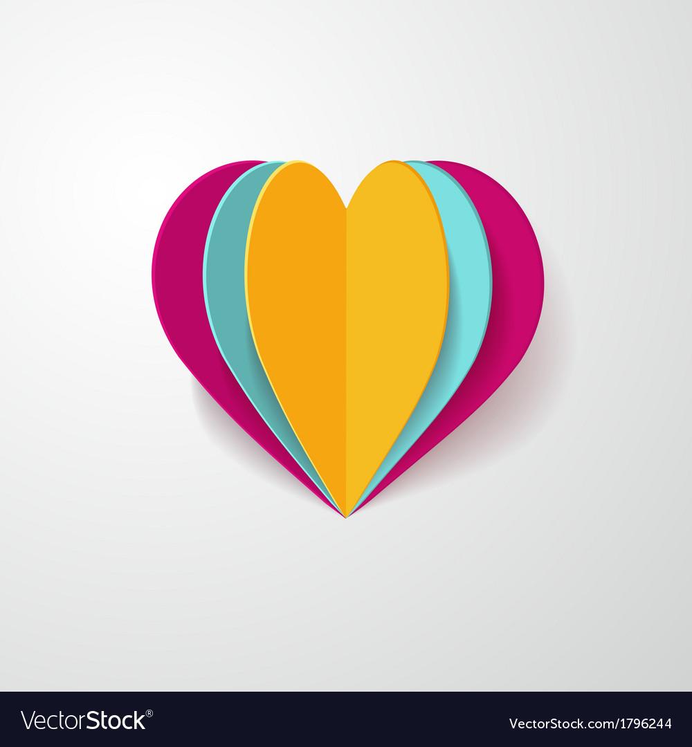 3d paper heart vector   Price: 1 Credit (USD $1)