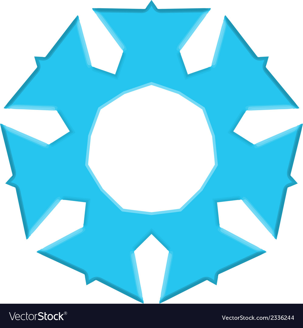 A blue snowflake vector | Price: 1 Credit (USD $1)