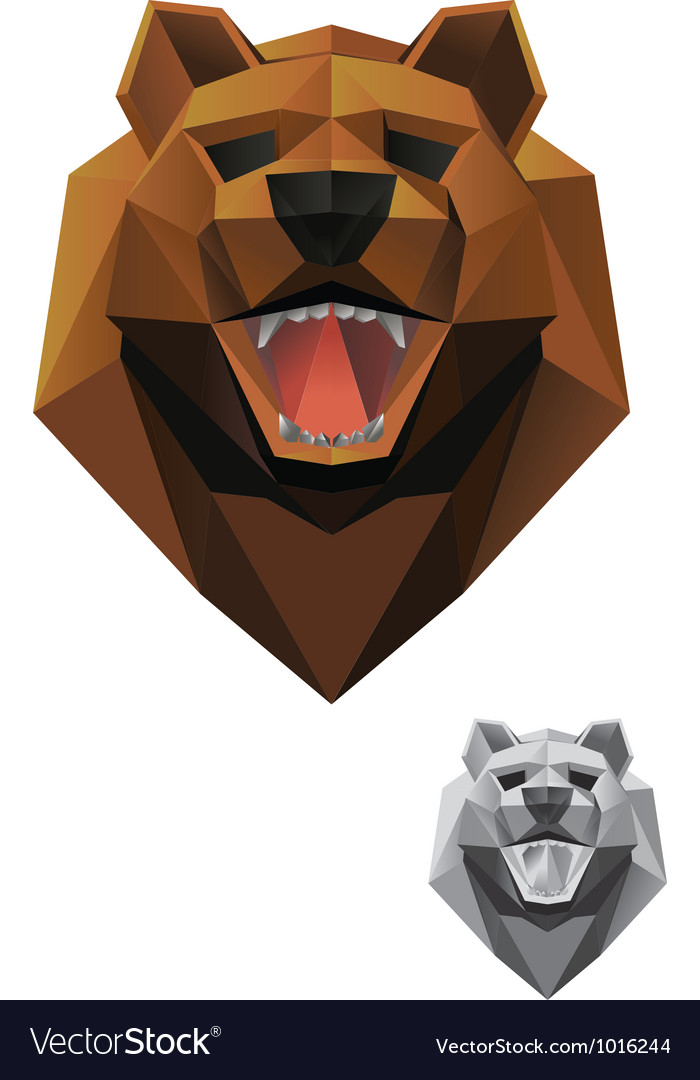 Bear-head-front vector | Price: 1 Credit (USD $1)