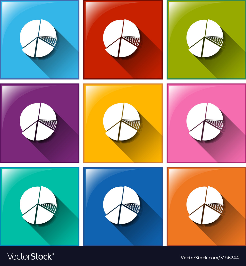 Buttons with graphs vector | Price: 1 Credit (USD $1)