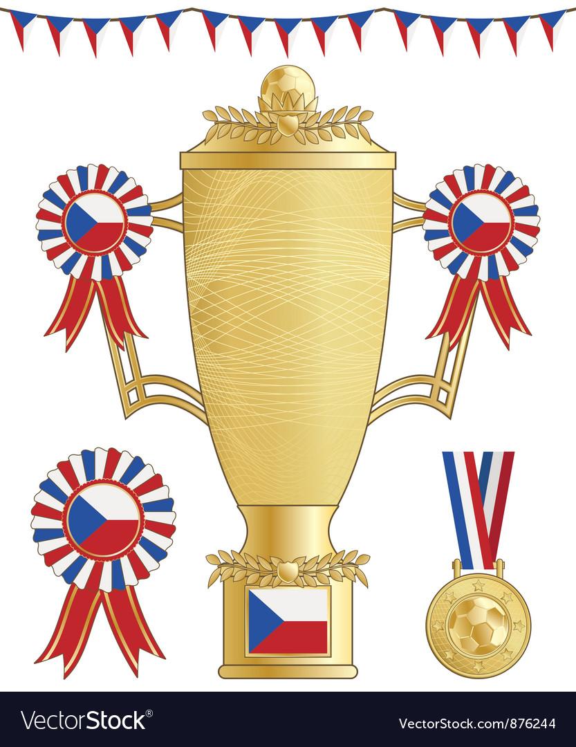 Czech republic football trophy vector   Price: 1 Credit (USD $1)