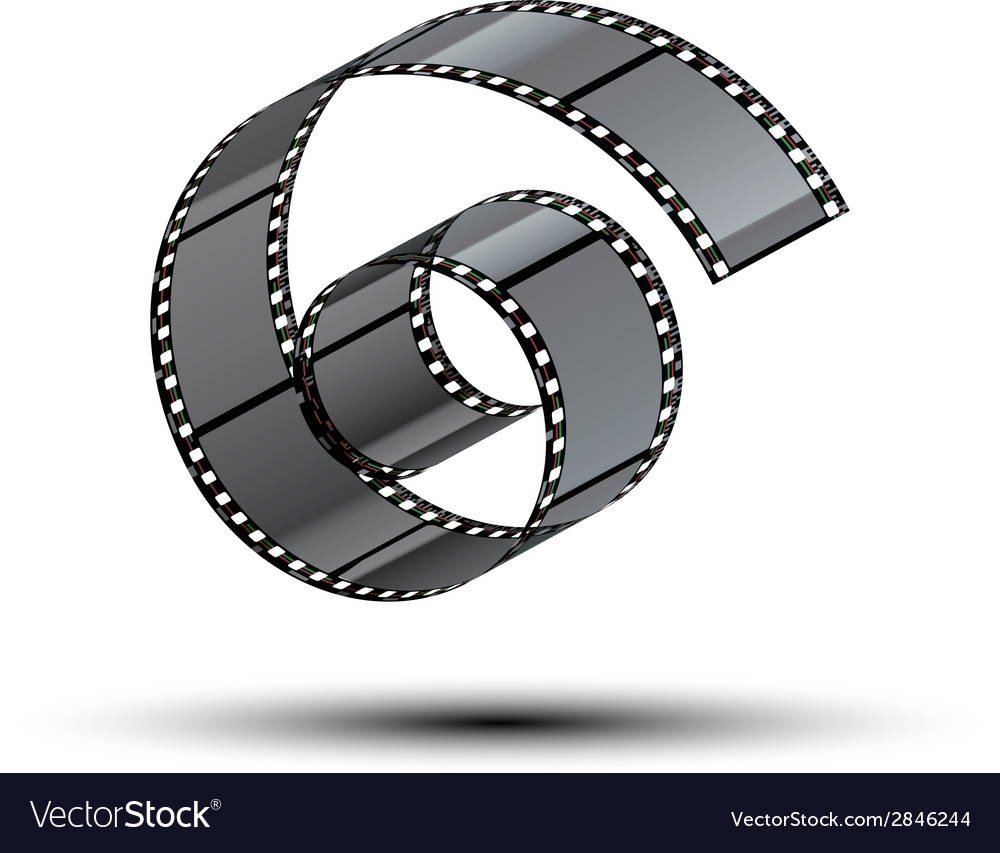 Film stripe curl vector | Price: 1 Credit (USD $1)