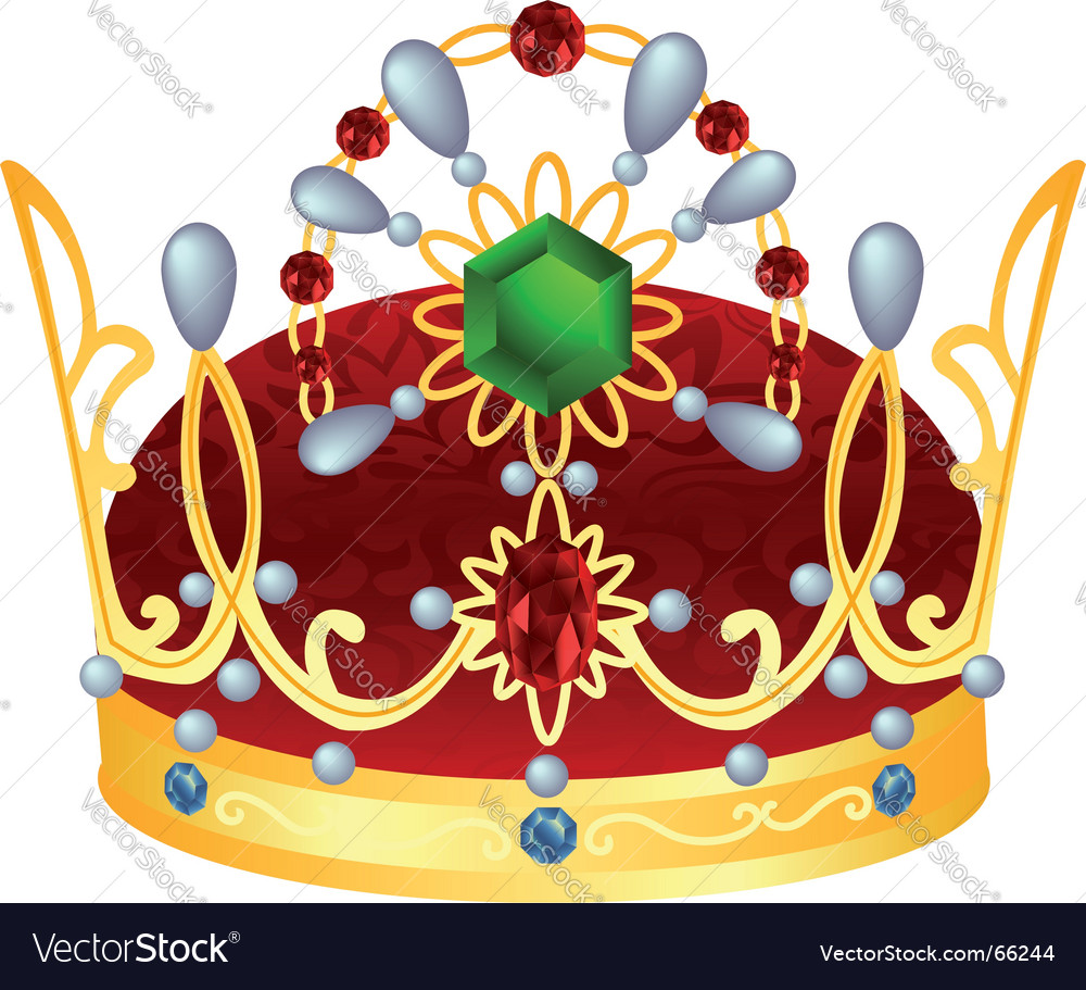 Gold royal crown vector | Price: 1 Credit (USD $1)