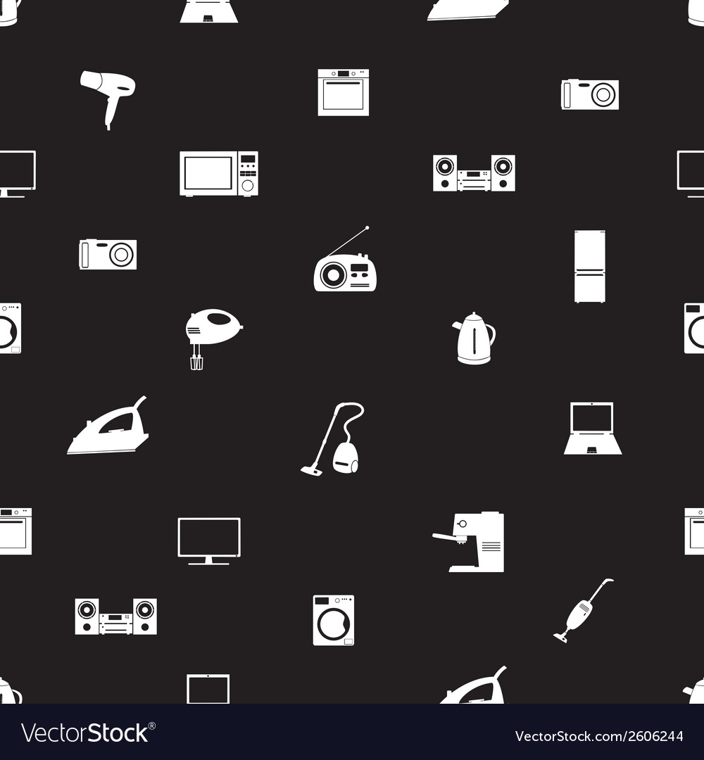 Home electrical appliances set pattern eps10 vector | Price: 1 Credit (USD $1)