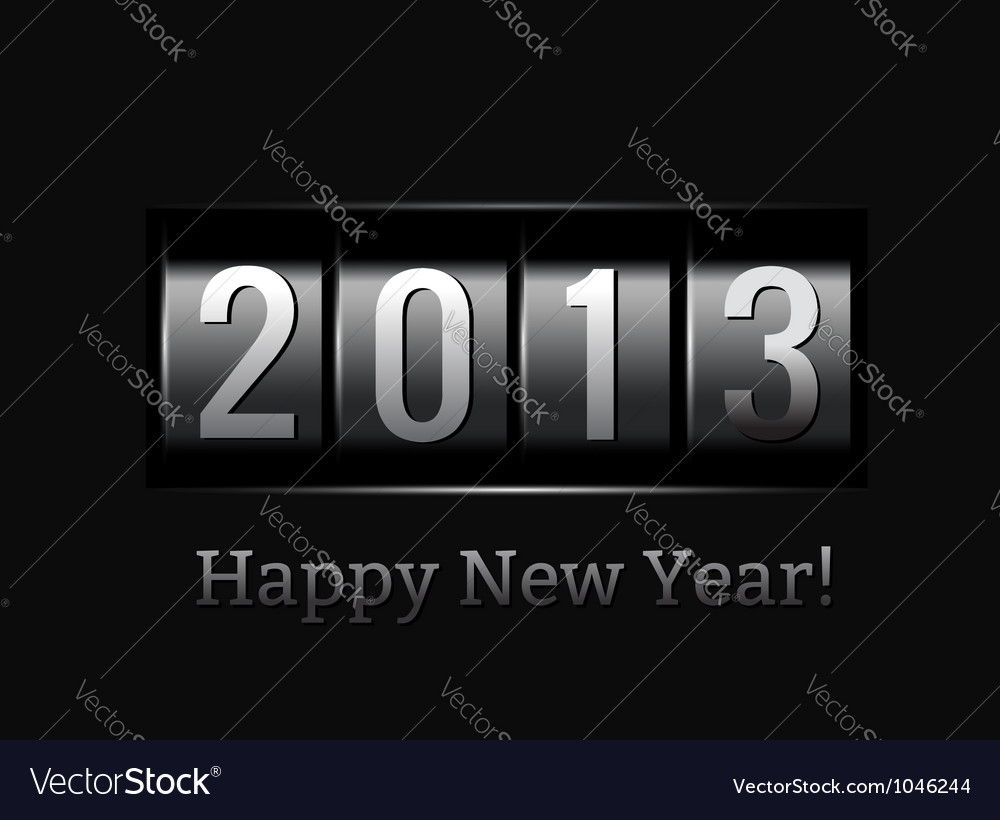 New year counter 2013 vector | Price: 1 Credit (USD $1)