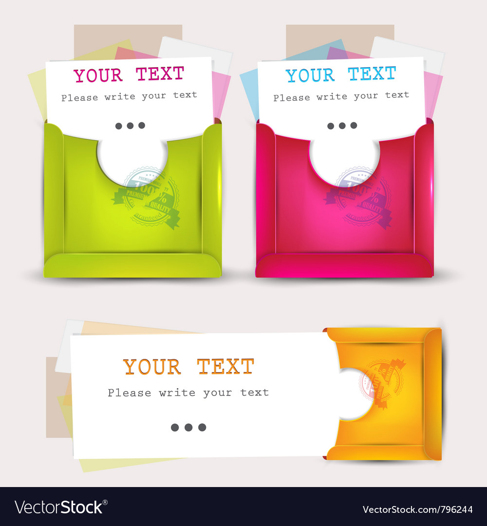 Paper envelopes set vector | Price: 1 Credit (USD $1)