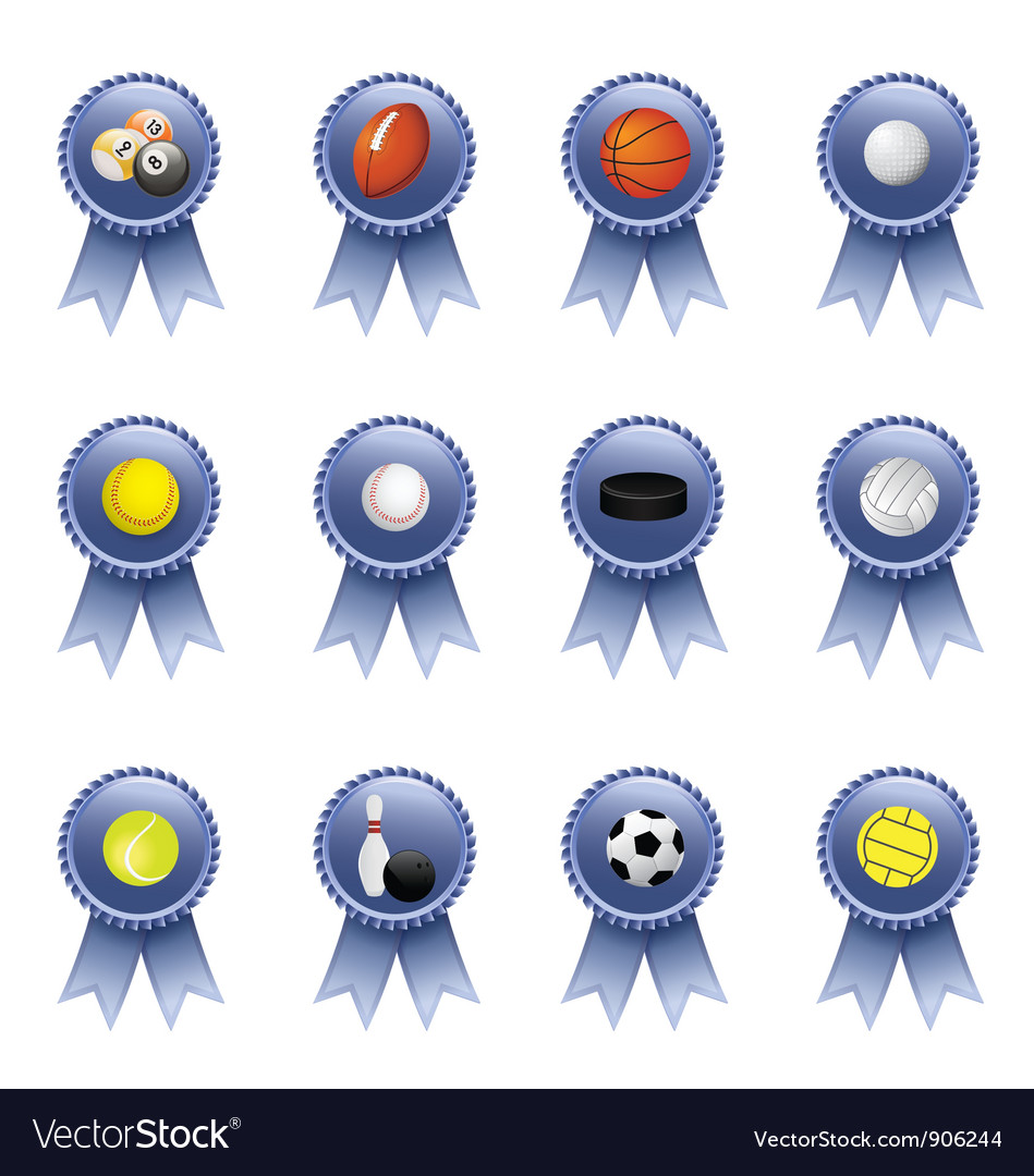 Sports award ribbons vector | Price: 1 Credit (USD $1)