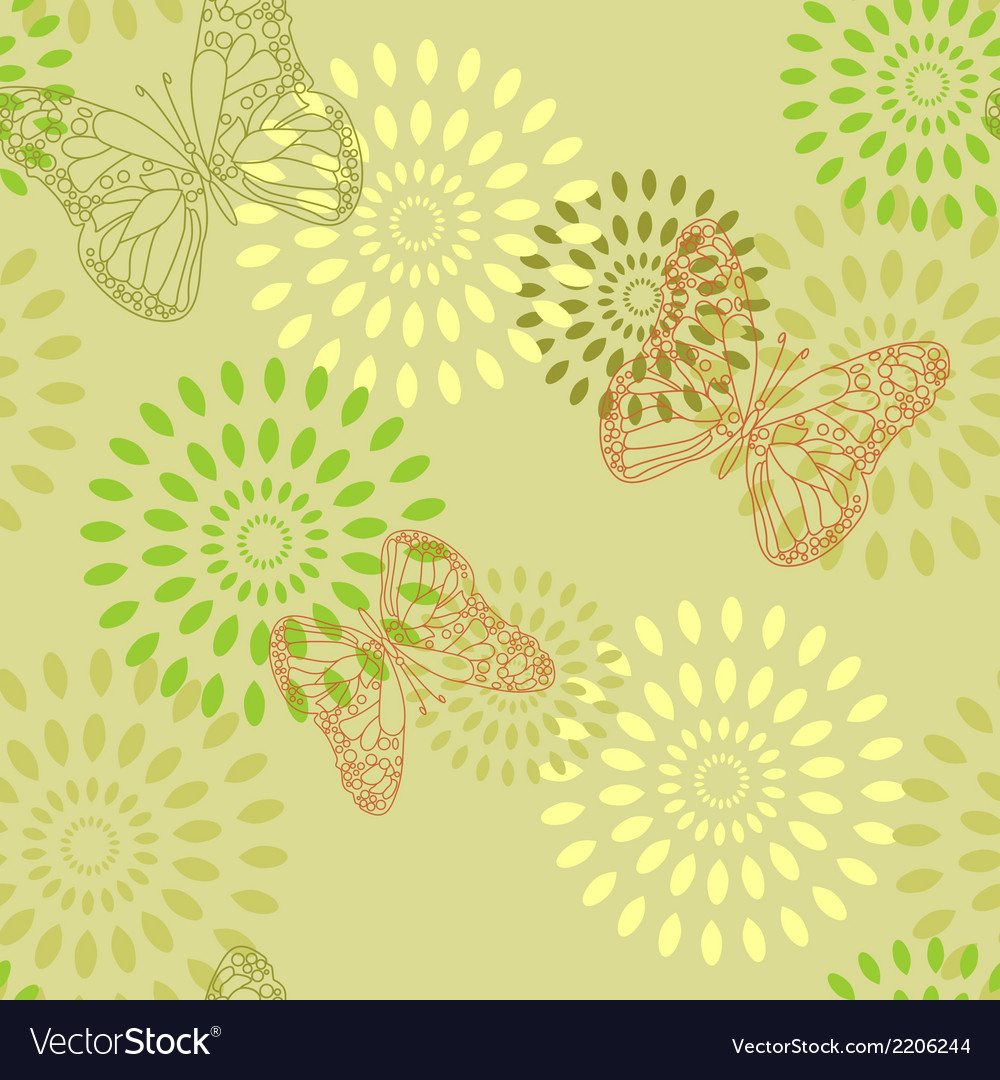 Summer butterflies vector | Price: 1 Credit (USD $1)