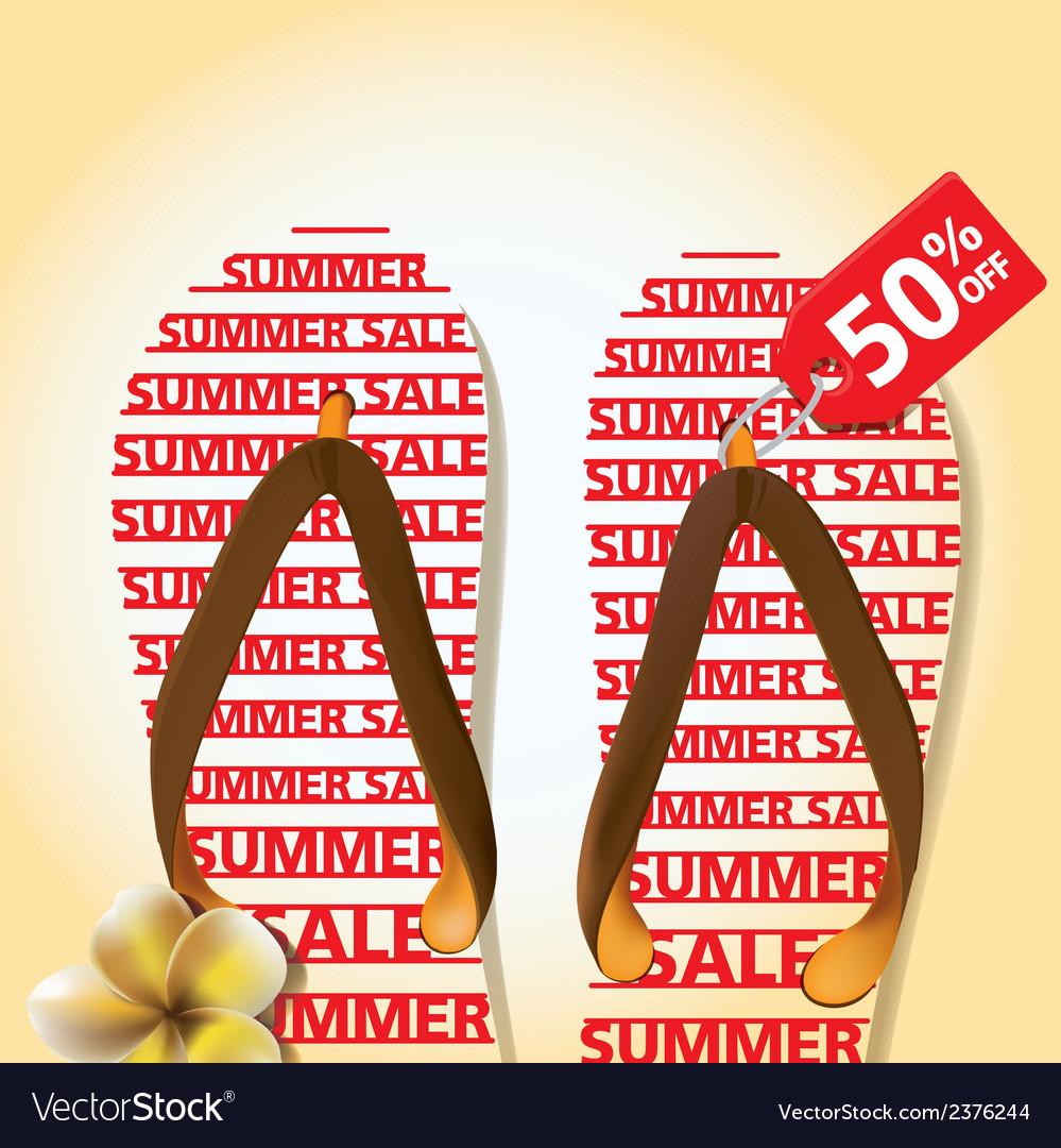 Summer sandal 01 vector | Price: 1 Credit (USD $1)