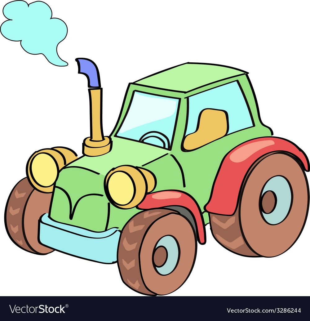 Tractor cartoon colored vector | Price: 1 Credit (USD $1)