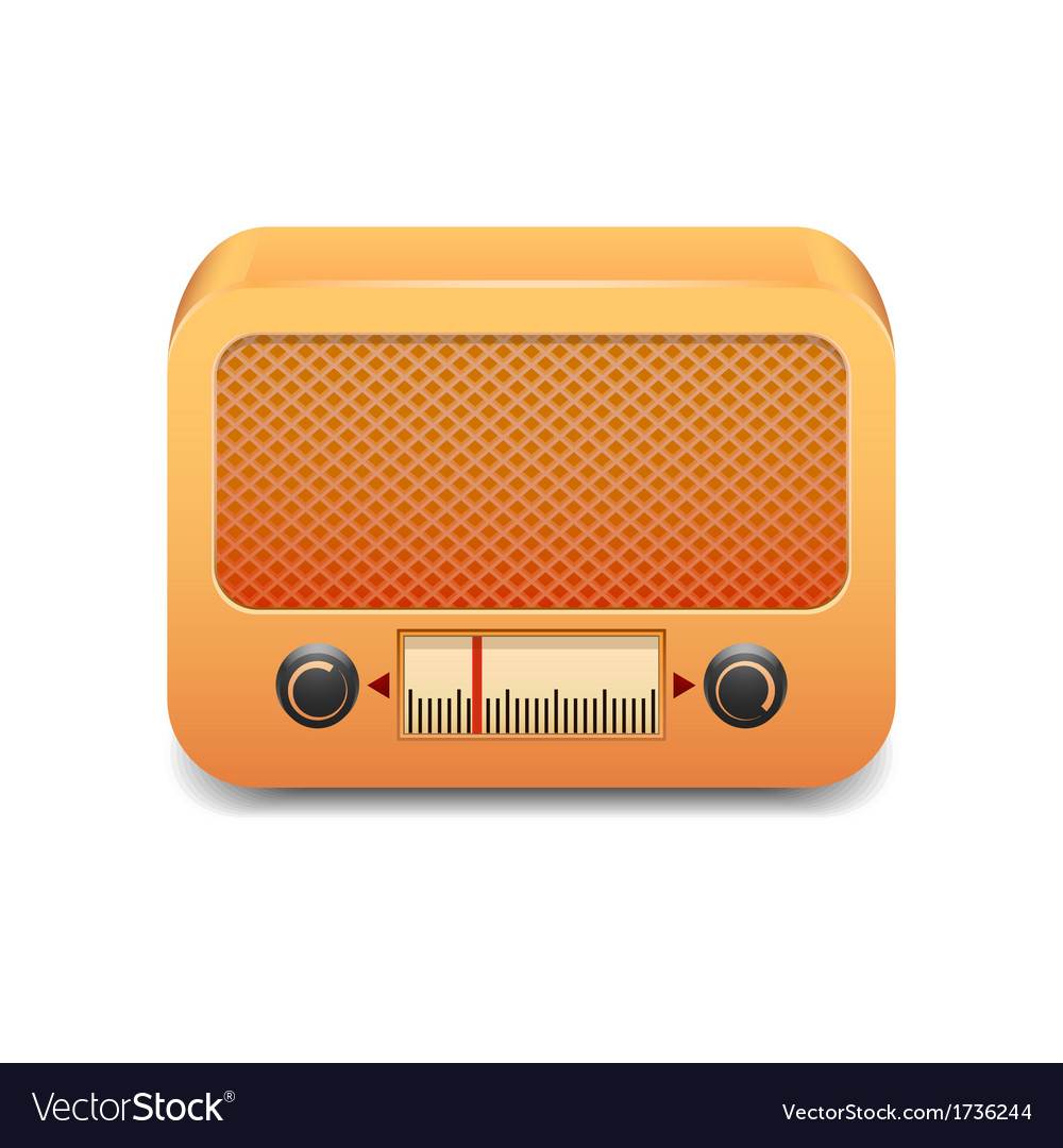 Vintage wooden radio vector | Price: 1 Credit (USD $1)