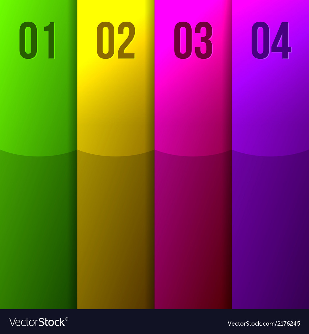 Abstract colored stripes vector | Price: 1 Credit (USD $1)