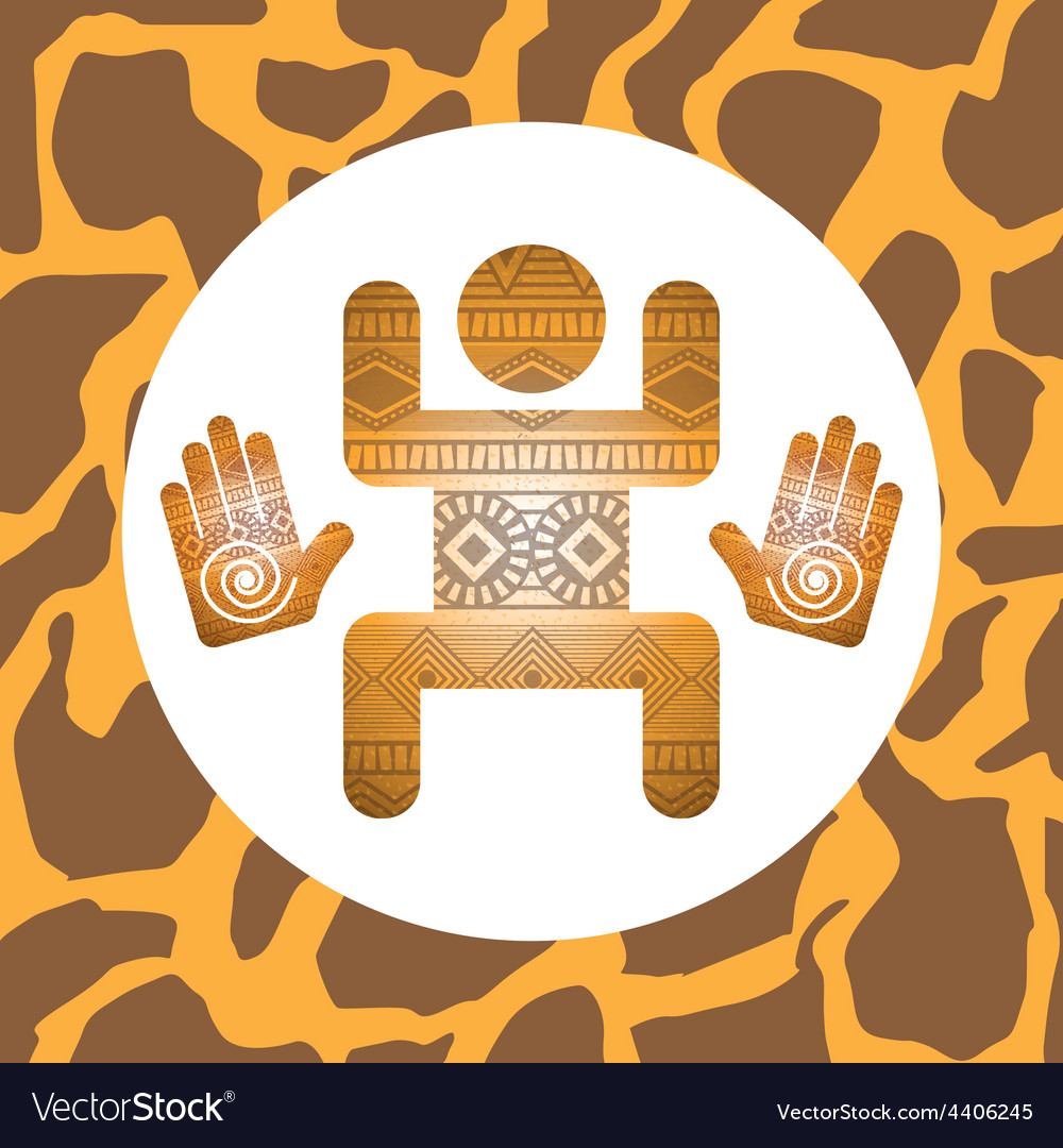 African culture vector | Price: 1 Credit (USD $1)
