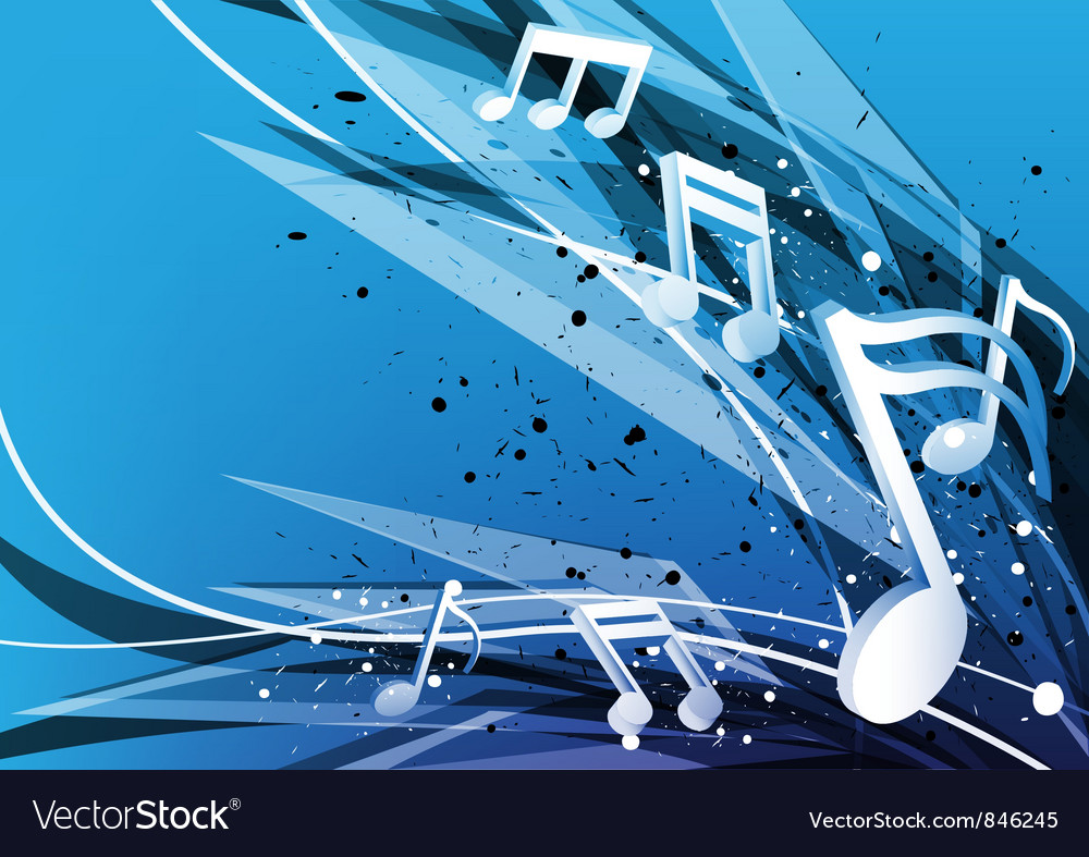 Blue music design background vector | Price: 1 Credit (USD $1)