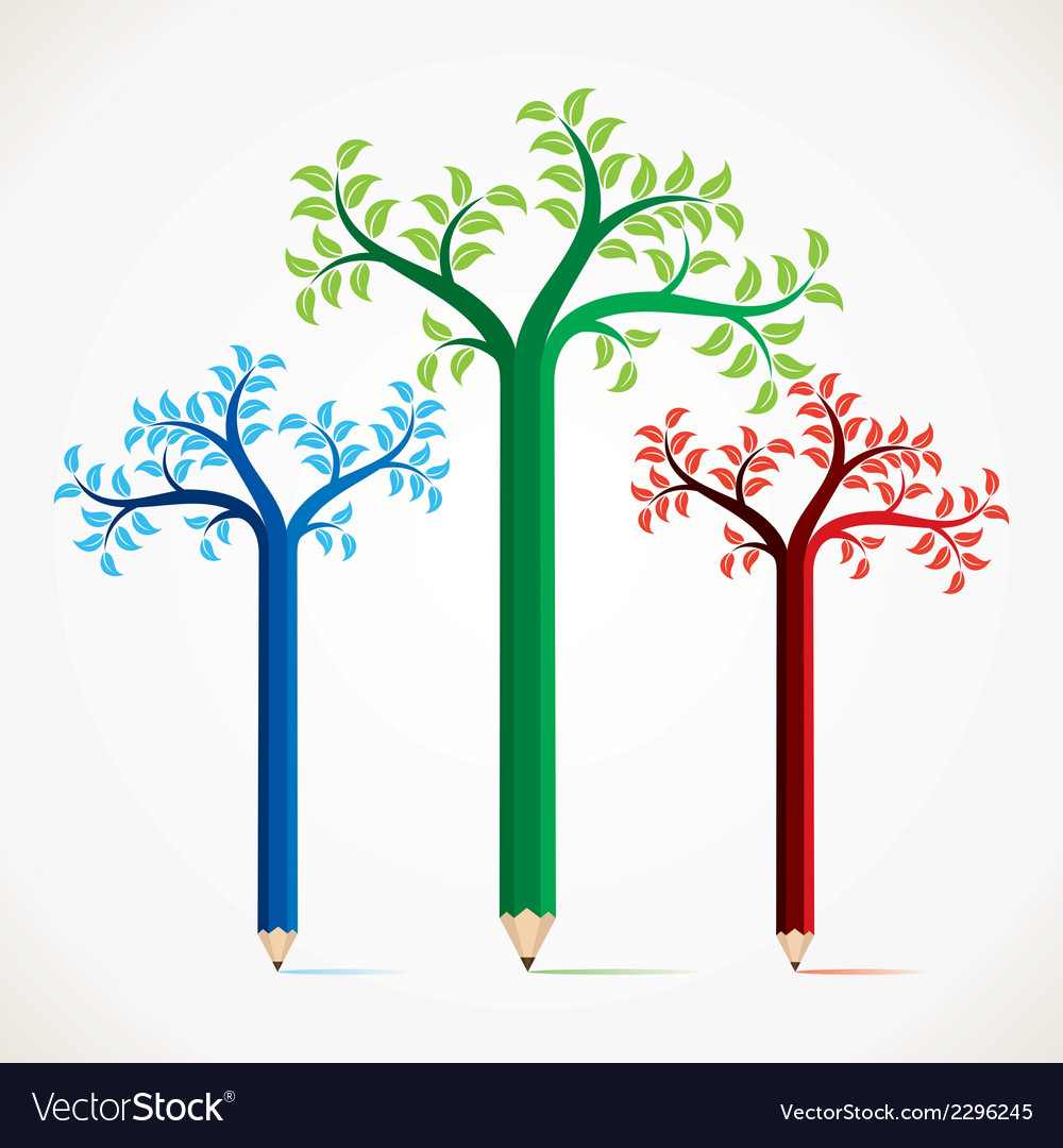 Colorful pencil tree stock vector | Price: 1 Credit (USD $1)