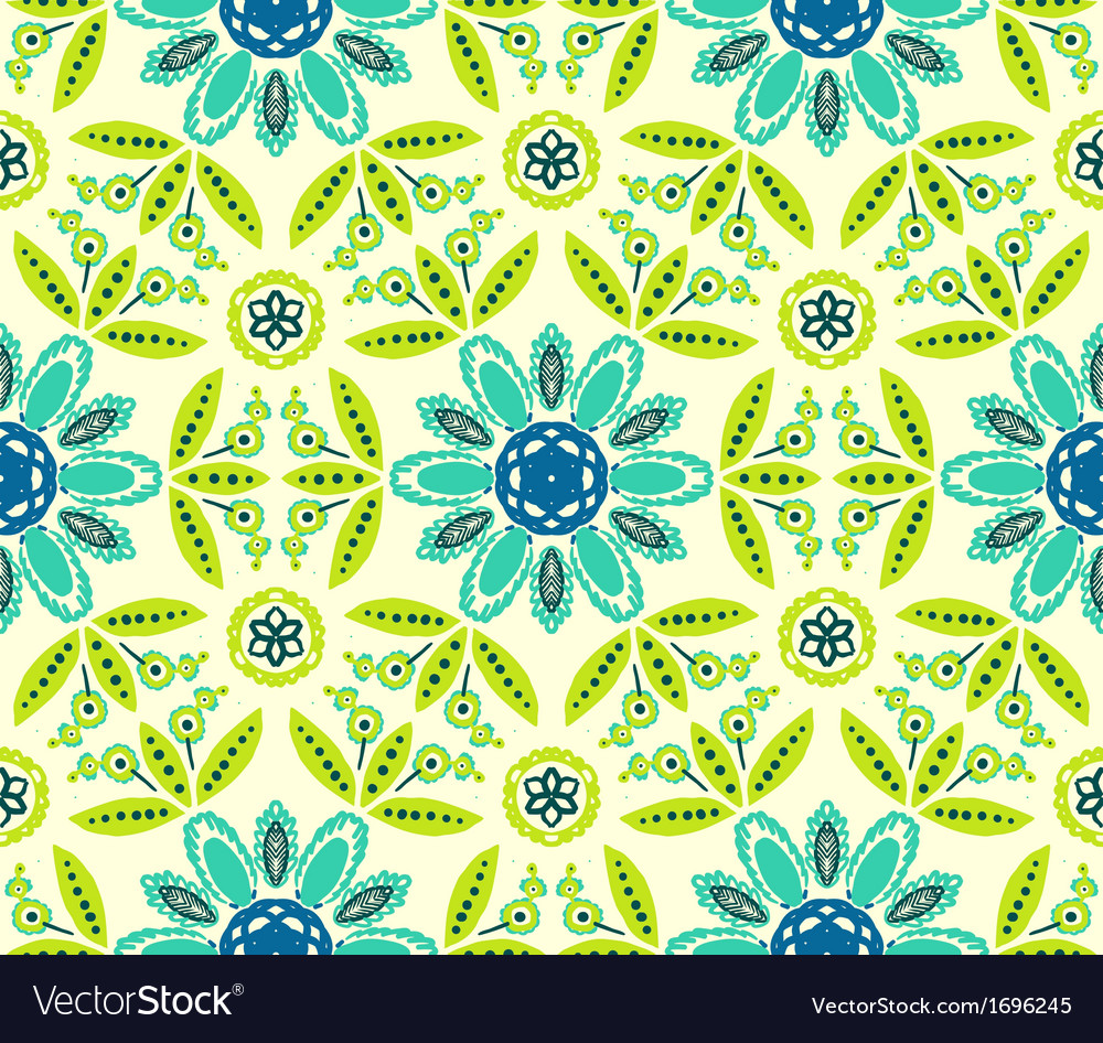 Floral ethnic spring pattern vector | Price: 1 Credit (USD $1)