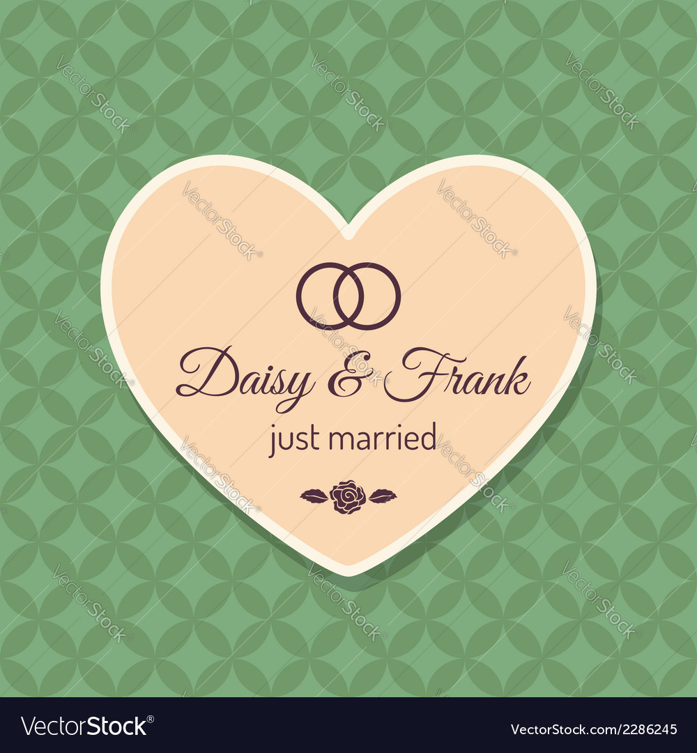 Just married wedding card vector | Price: 1 Credit (USD $1)