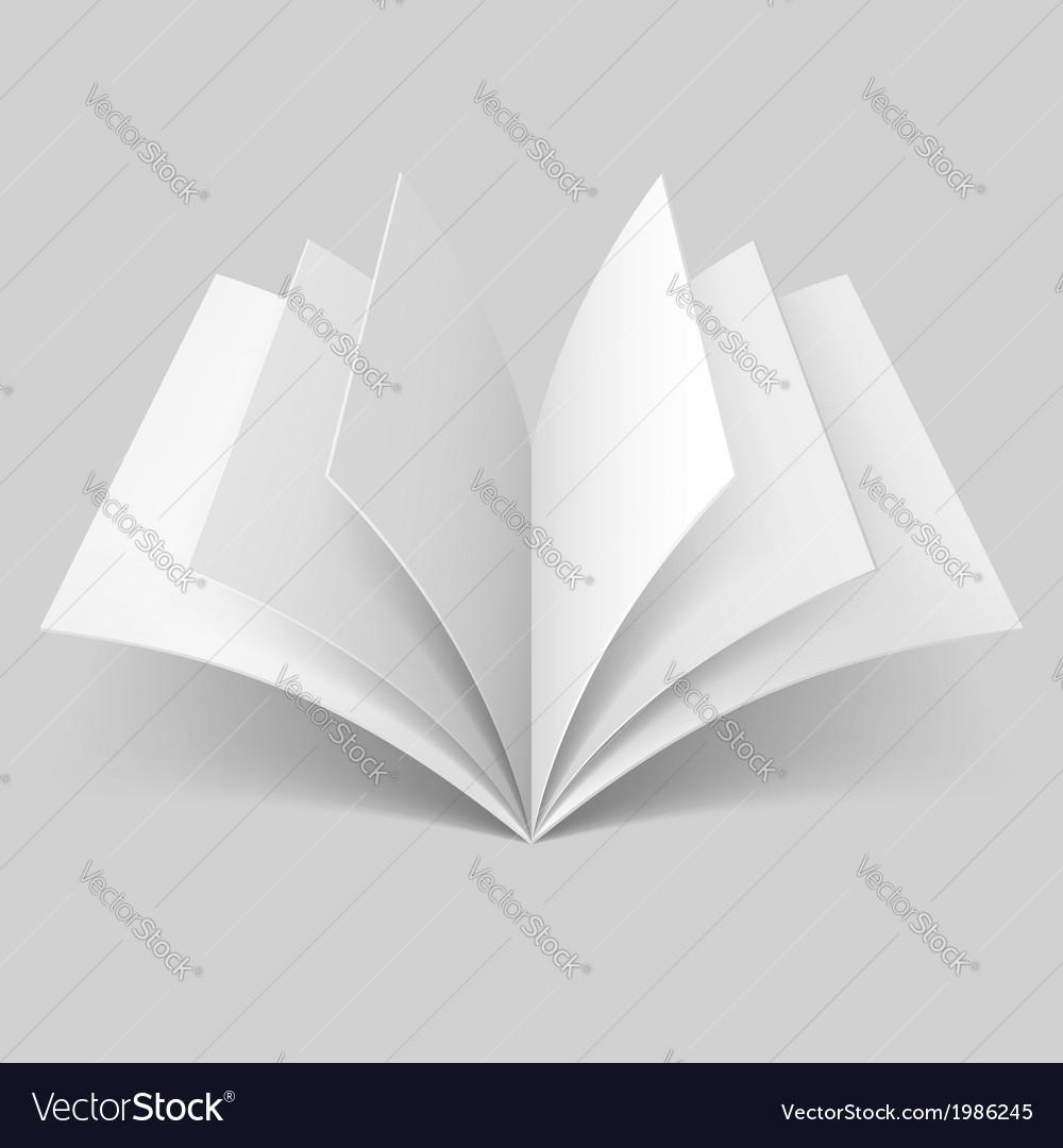 Open blank book vector | Price: 1 Credit (USD $1)
