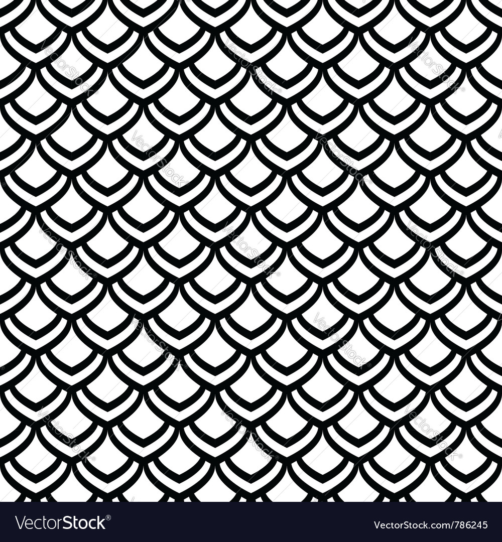 Seamless fish scale texture vector | Price: 1 Credit (USD $1)