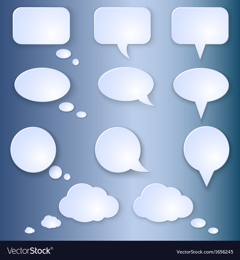 Set of empty speech bubbles vector | Price: 1 Credit (USD $1)