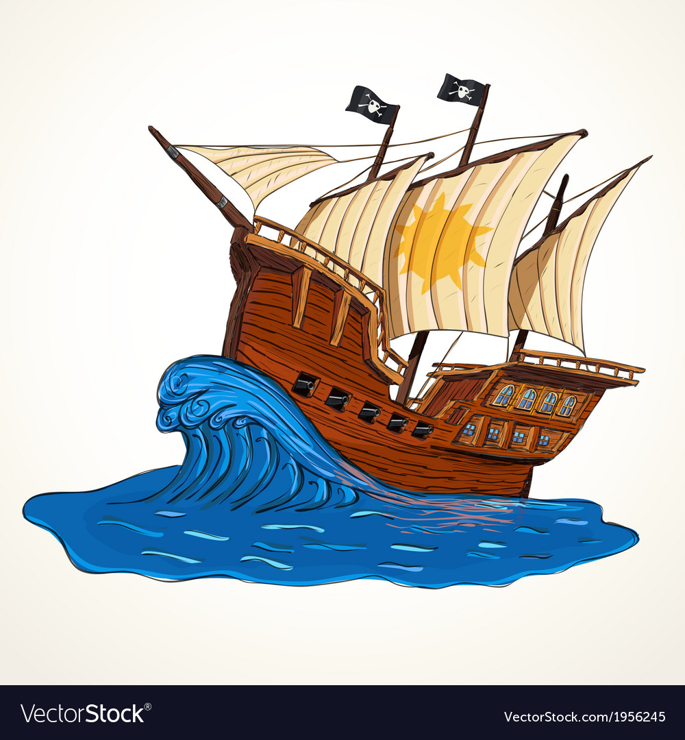 Summer adventures ship vector | Price: 1 Credit (USD $1)