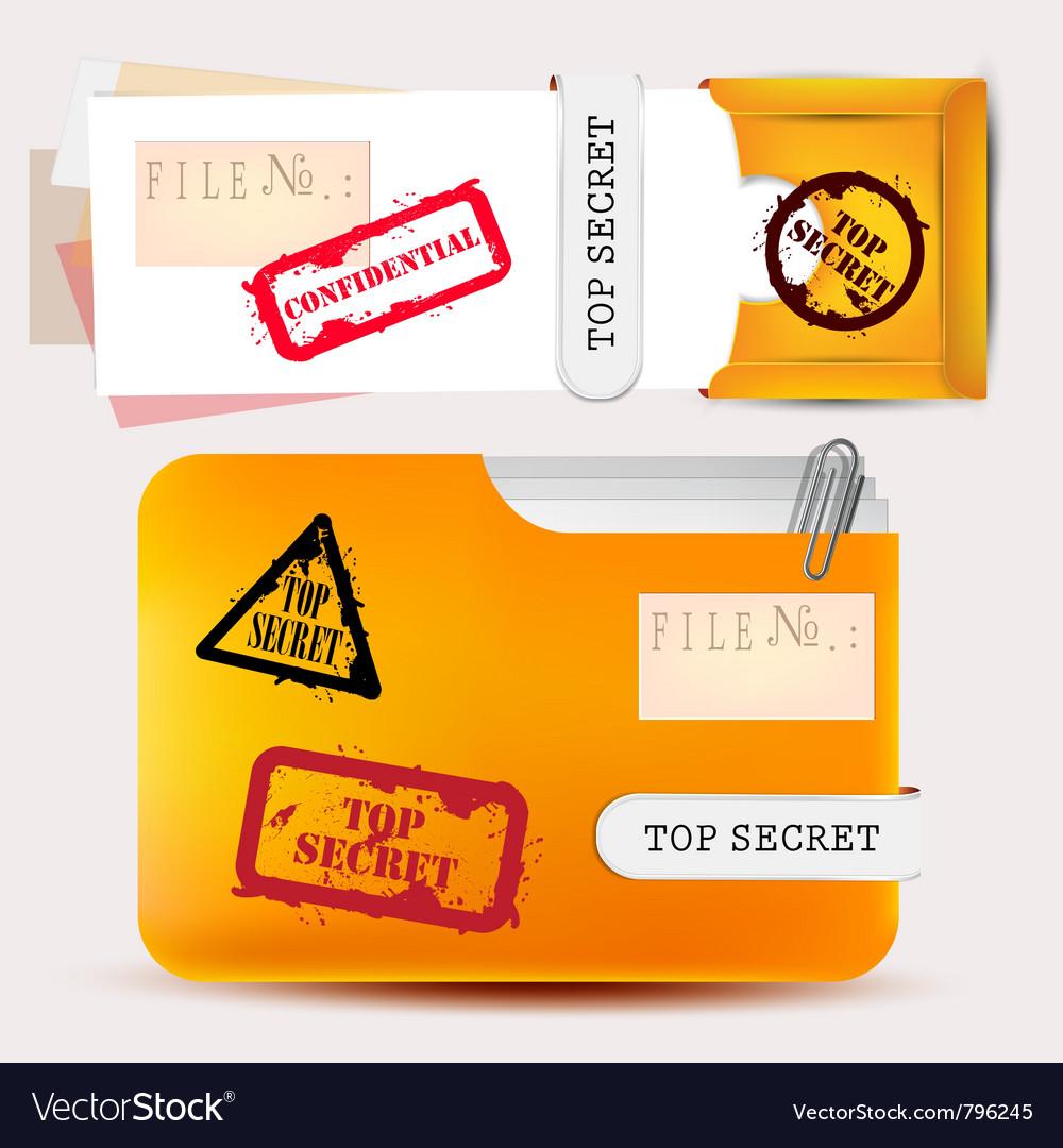 Top secret folder vector | Price: 1 Credit (USD $1)