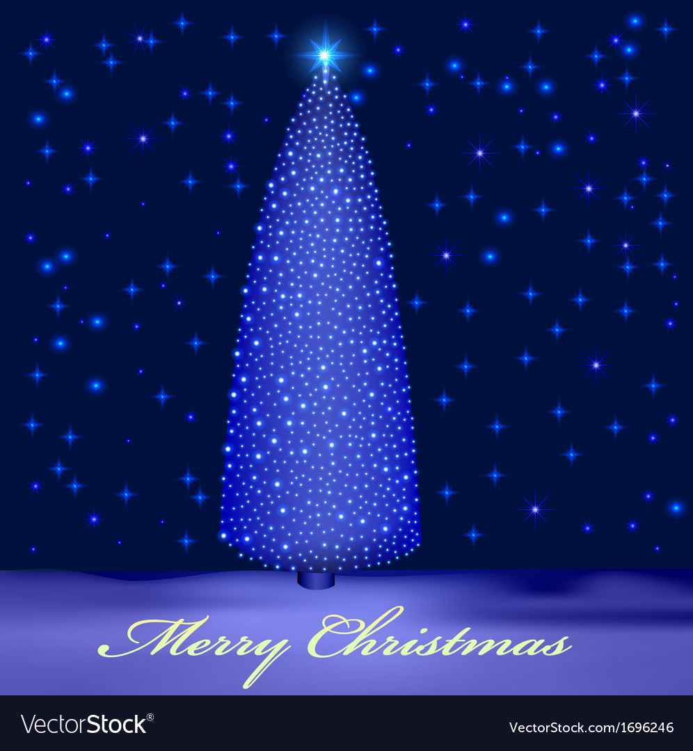 Background with illuminated christmas tree vector | Price: 1 Credit (USD $1)
