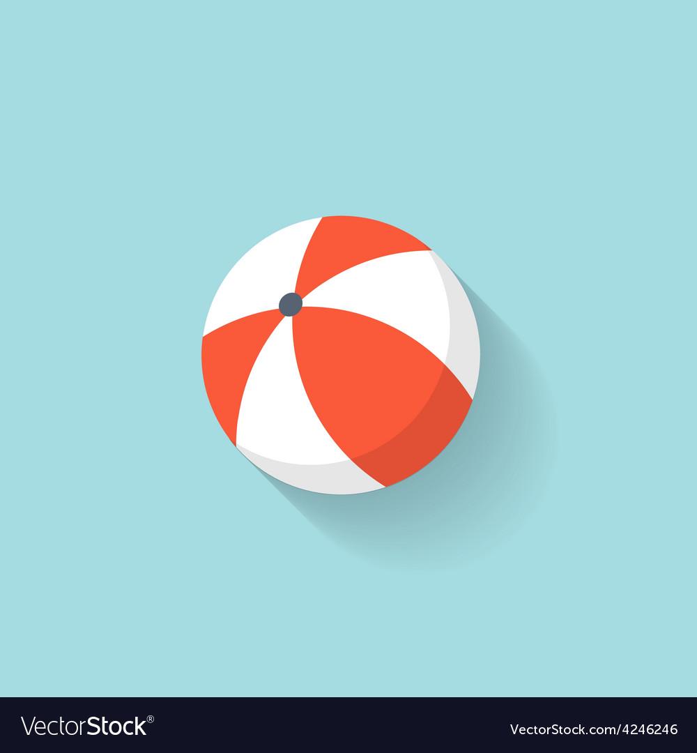 Beach ball flat web icon vector   Price: 1 Credit (USD $1)