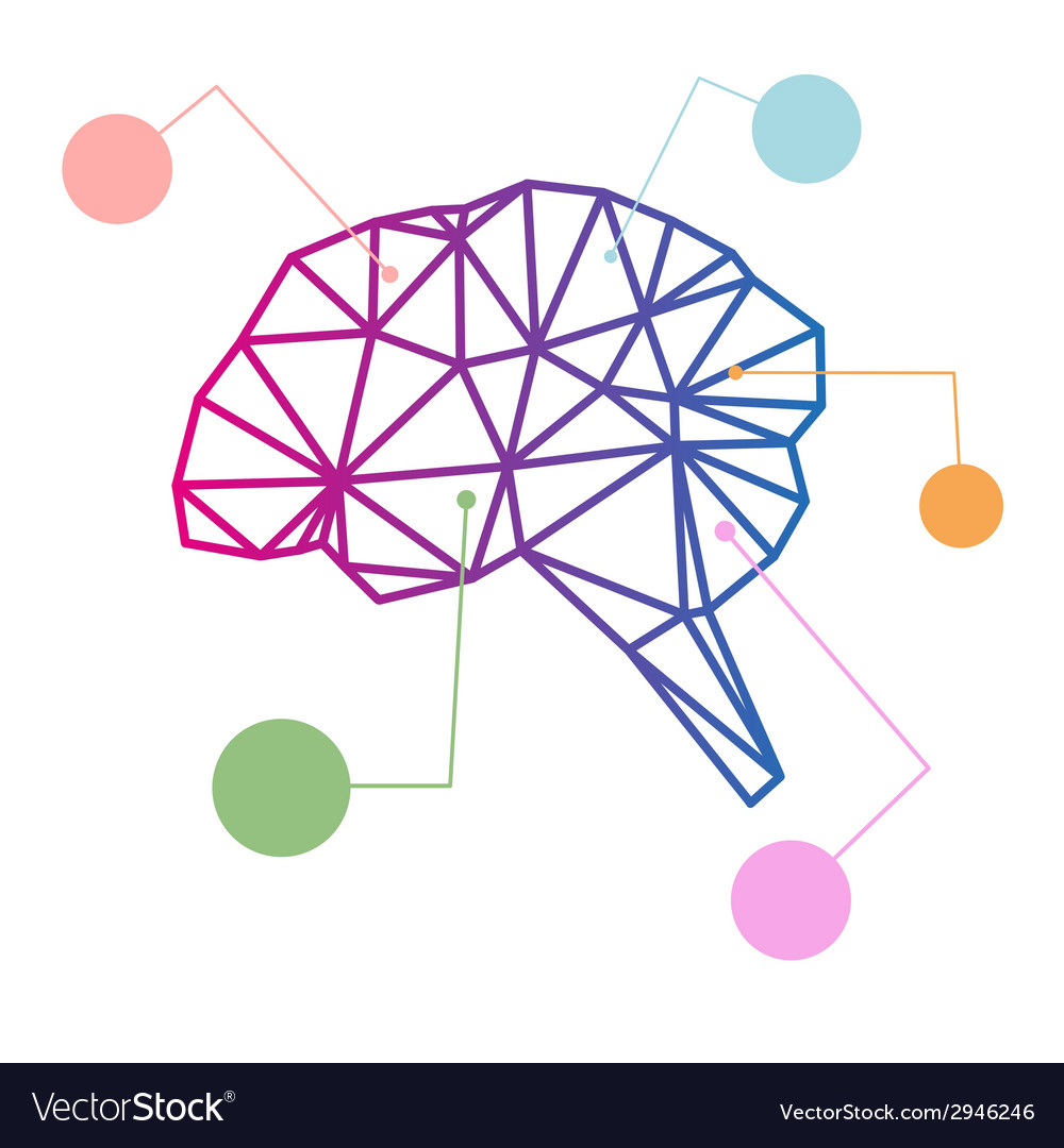 Brain abstract isolated vector | Price: 1 Credit (USD $1)