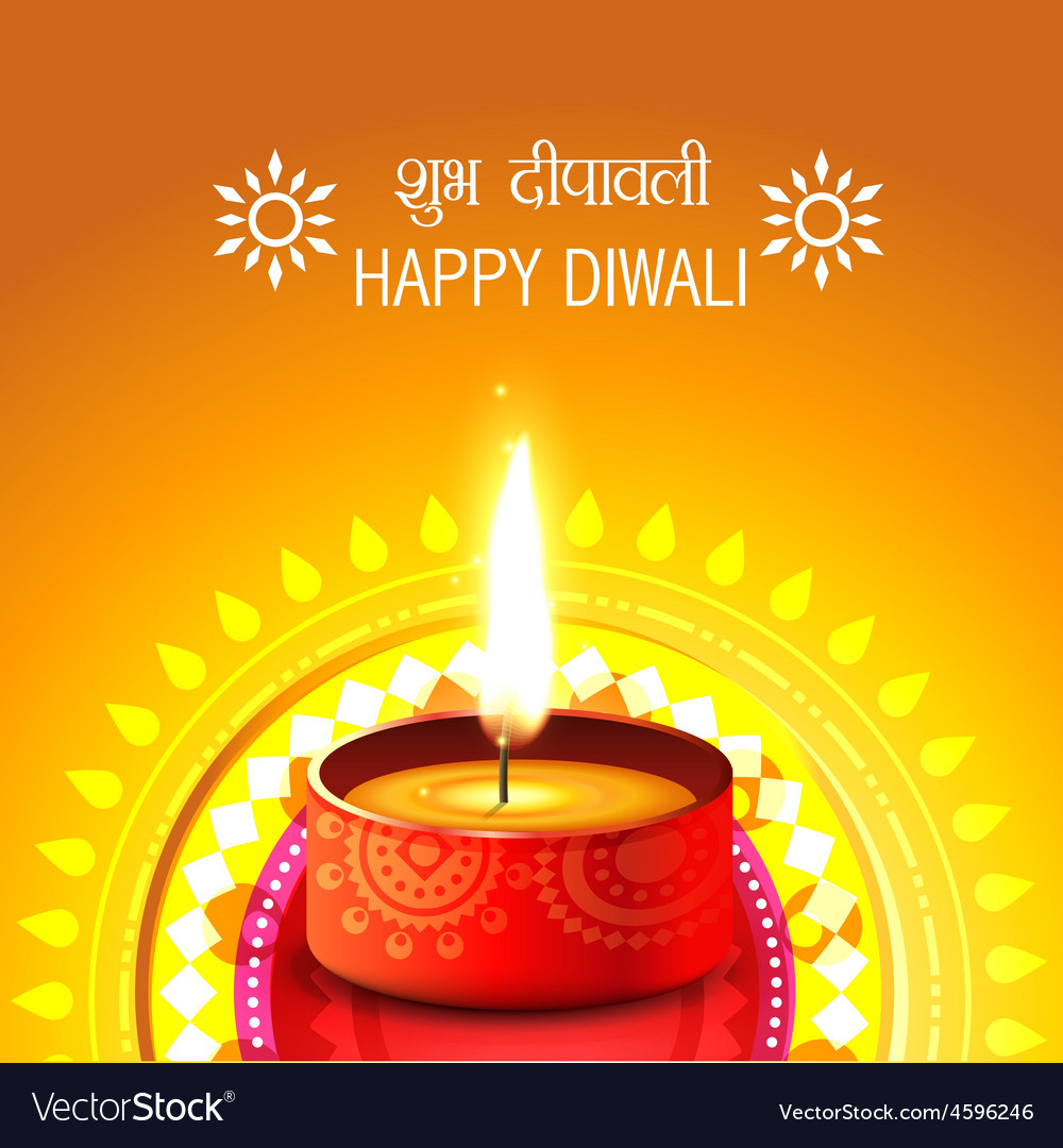Creative background of diwali vector