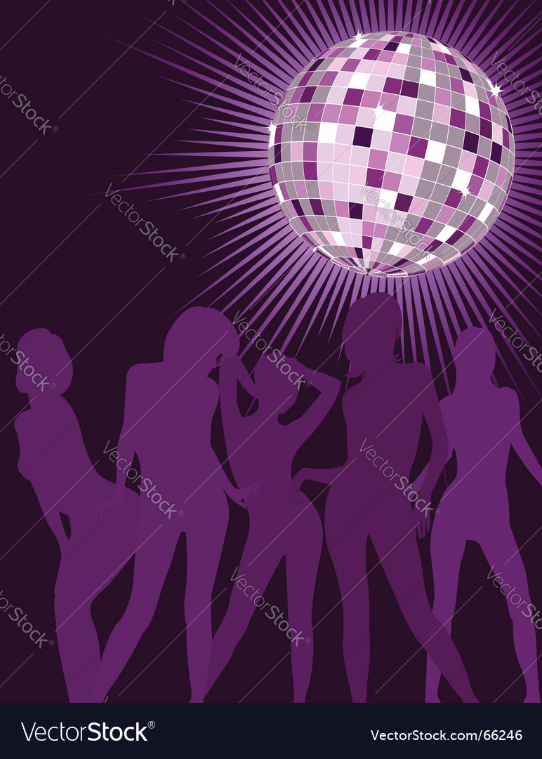 Disco girls silhouettes vector | Price: 1 Credit (USD $1)