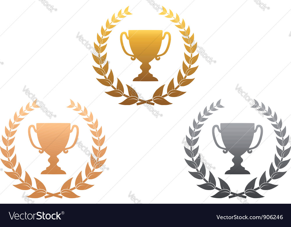 Golden silver and bronze awards vector | Price: 1 Credit (USD $1)