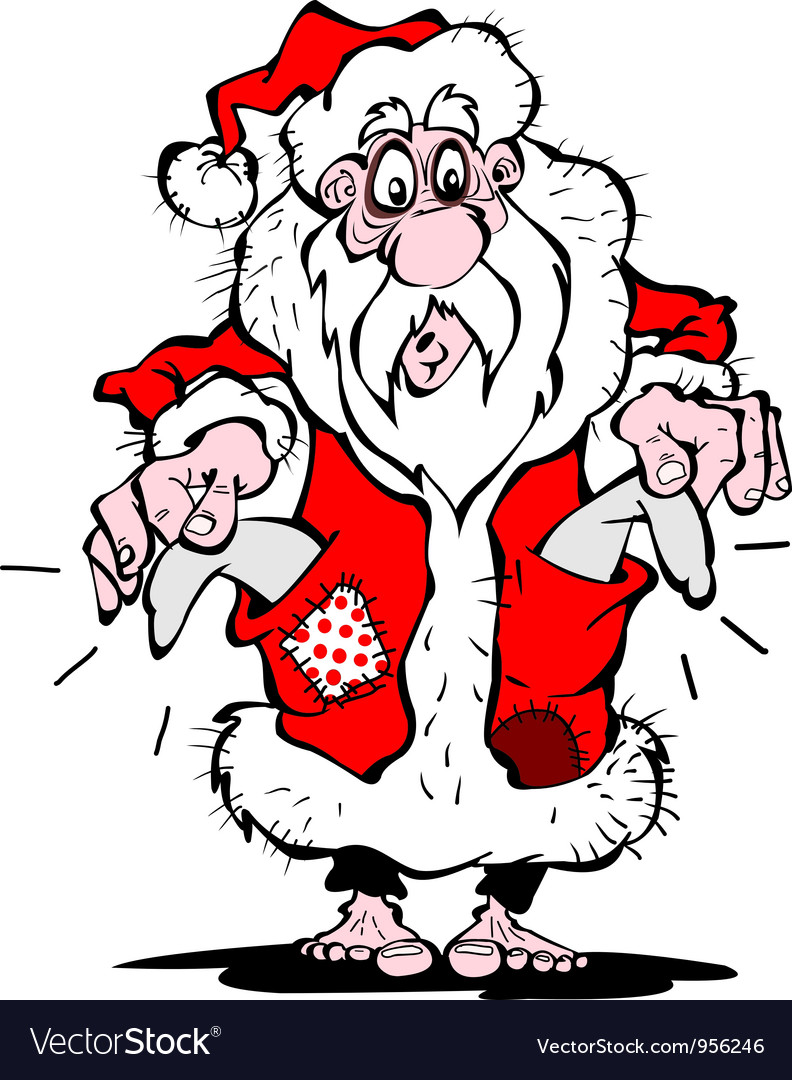 Pauper santa claus vector | Price: 1 Credit (USD $1)