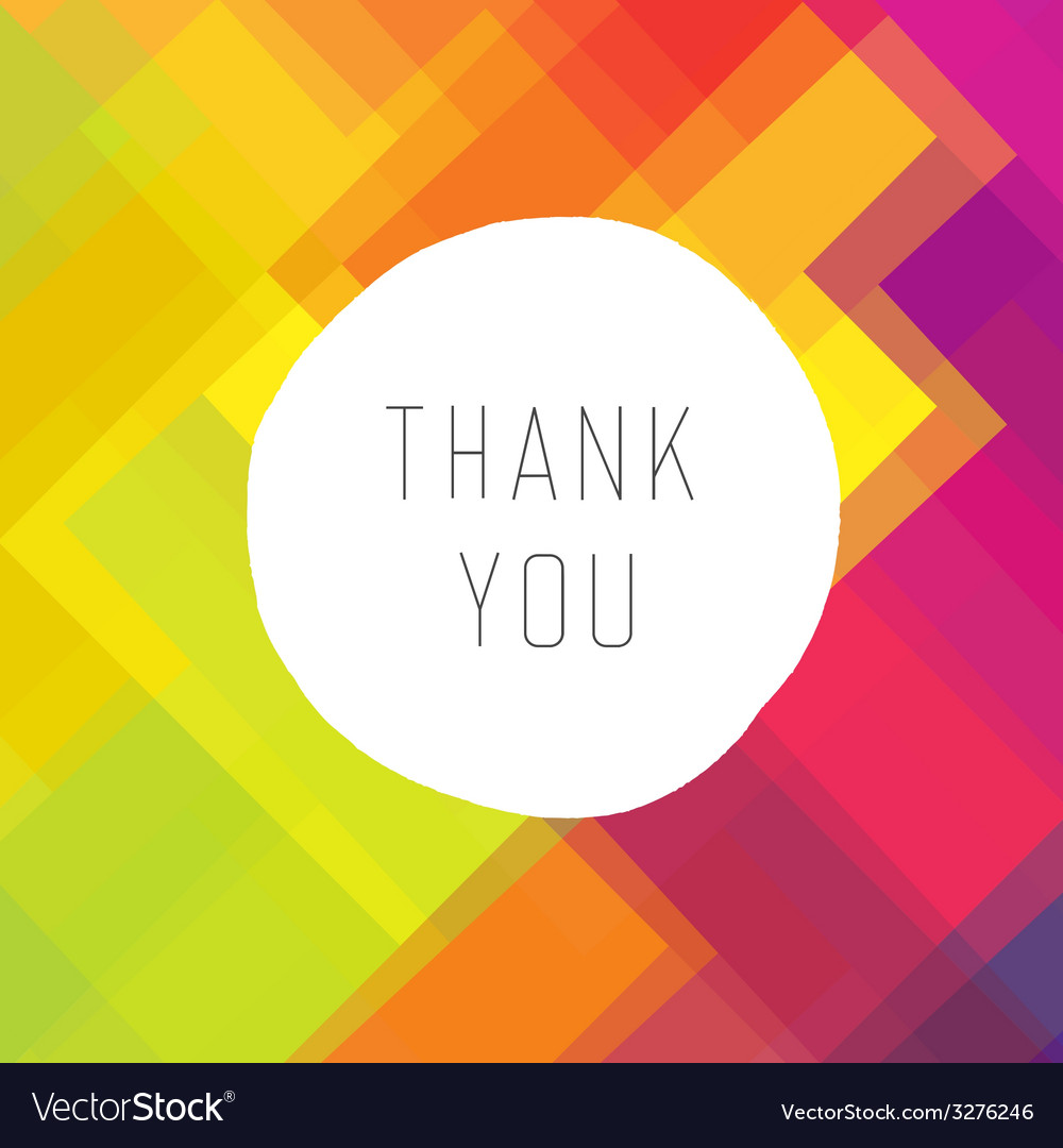 Thank you colorful vector | Price: 1 Credit (USD $1)